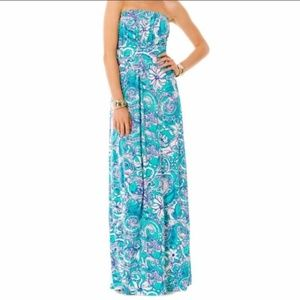 Lilly Pulitzer Holbrook Strapless Maxi Dress Sz S